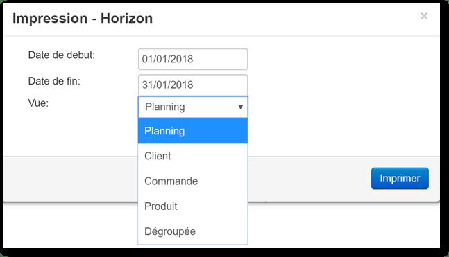 Comment imprimer les données de mon planning de Gantt